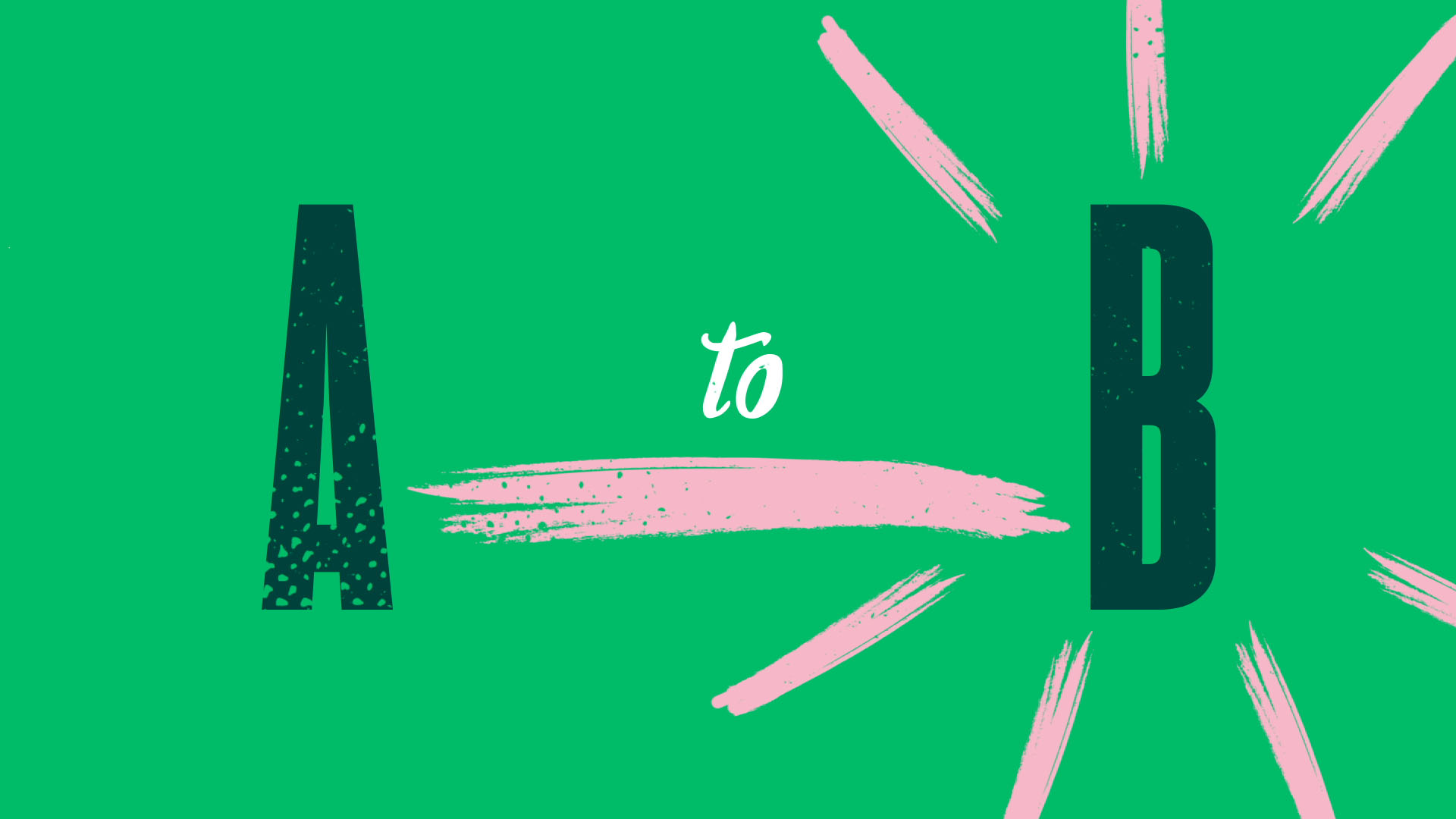 kinetic typography animation london a to b