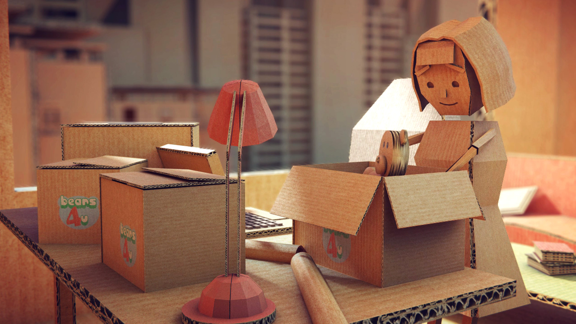 animated video cardboard stop motion