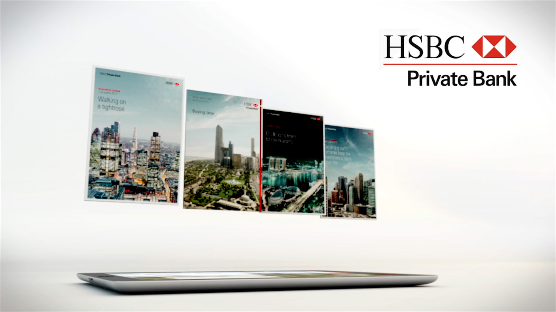hsbc ipad animated video